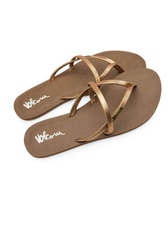 All Night Long Sandals In Bronze, Front View