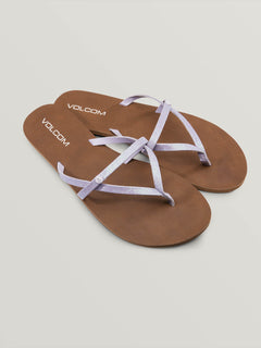 All Night Long Sandals In Light Purple, Front View