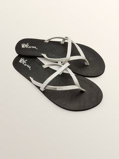 All Night Long Sandals In Silver, Front View