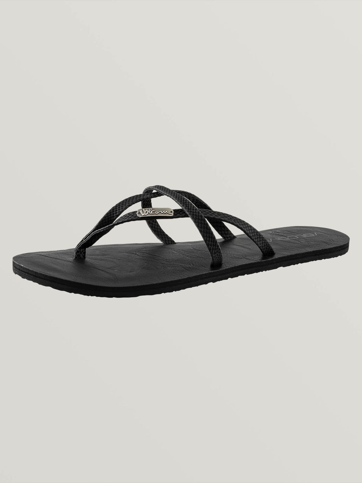 All Night Long Sandals In Sulfur Black, Back View