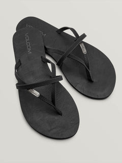 All Night Long Sandals In Sulfur Black, Front View