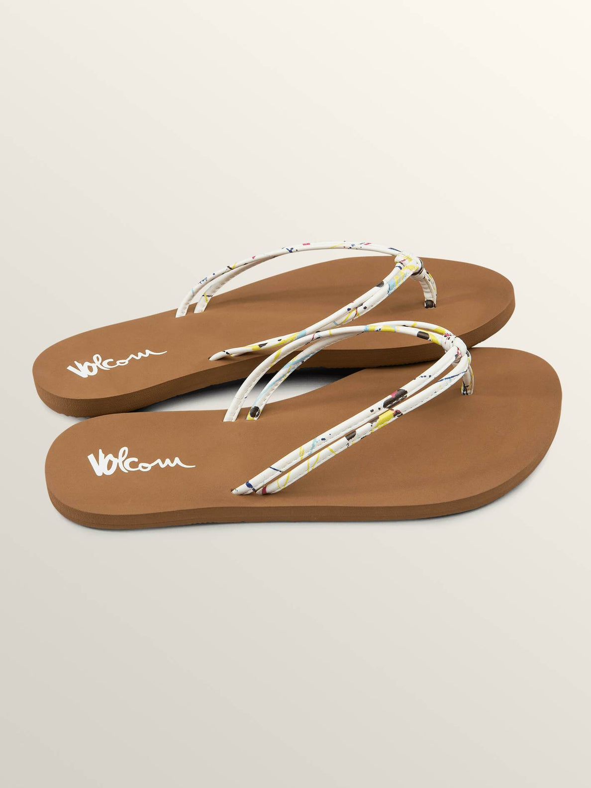 Forever And Ever Sandals In Paint White, Front View