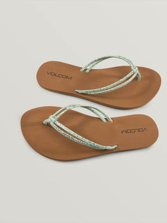 Forever And Ever Sandals In Spearmint, Front View