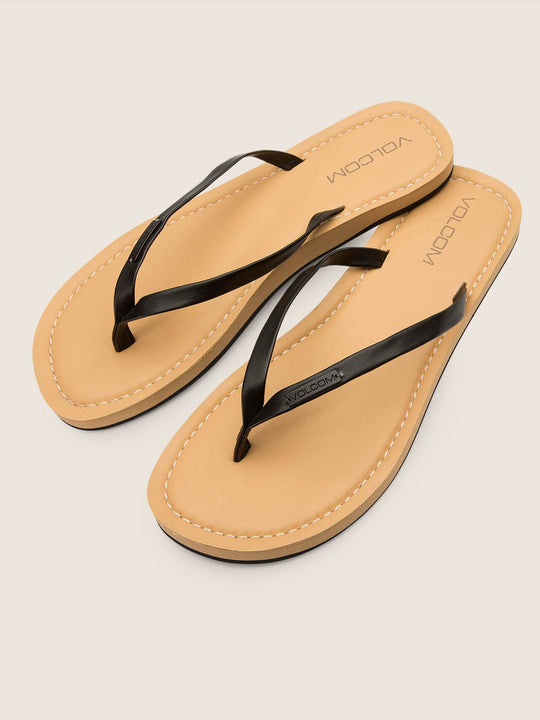 Lagos Sandals In Black, Front View
