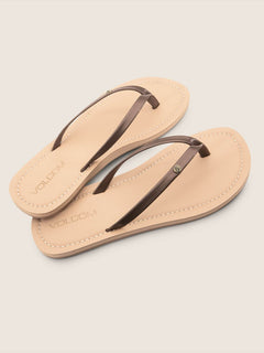 Lagos Sandals In Bronze, Front View