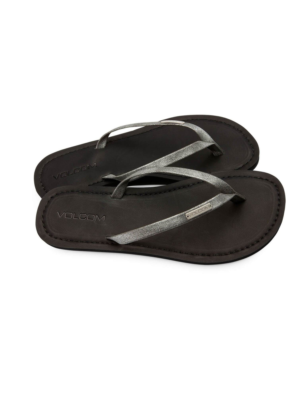 Lagos Sandals In Gunmetal Grey, Front View