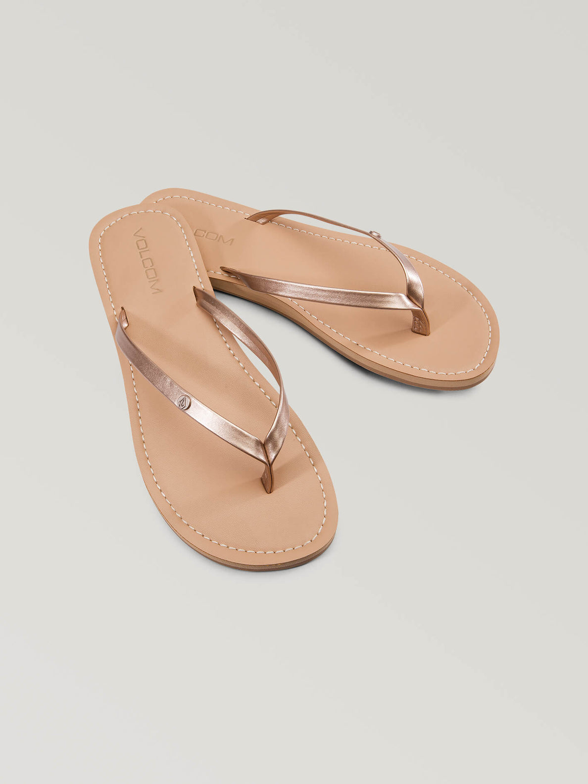 Lagos Sandals In Rose Gold, Front View
