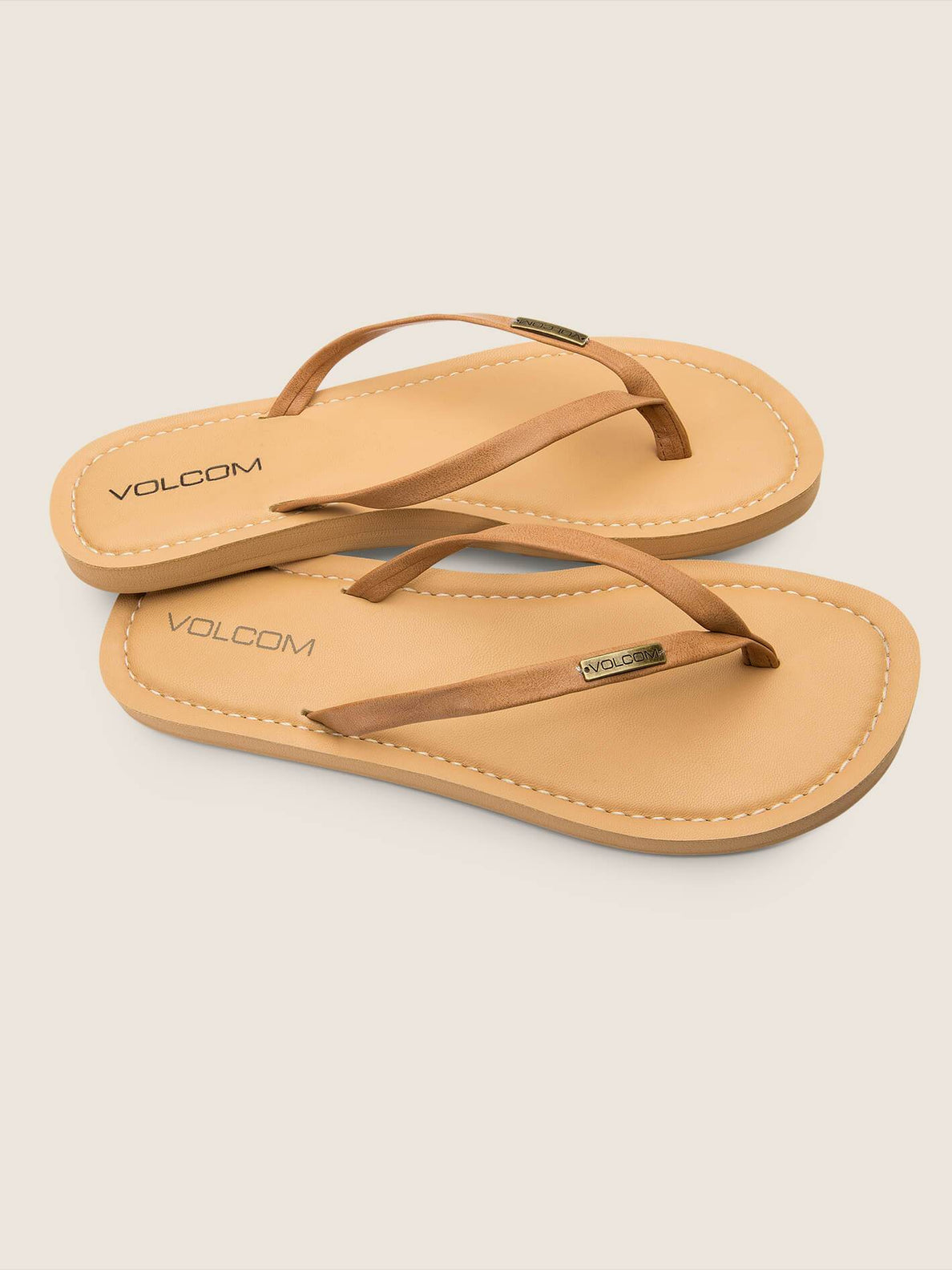 Lagos Sandals In Tan, Front View