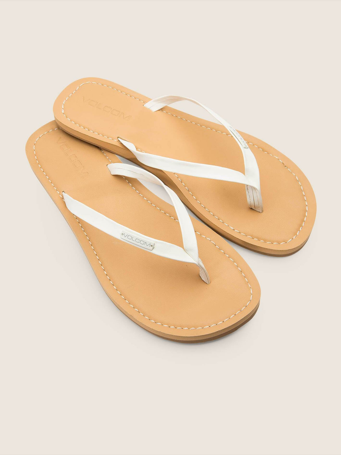 Lagos Sandals In White, Front View