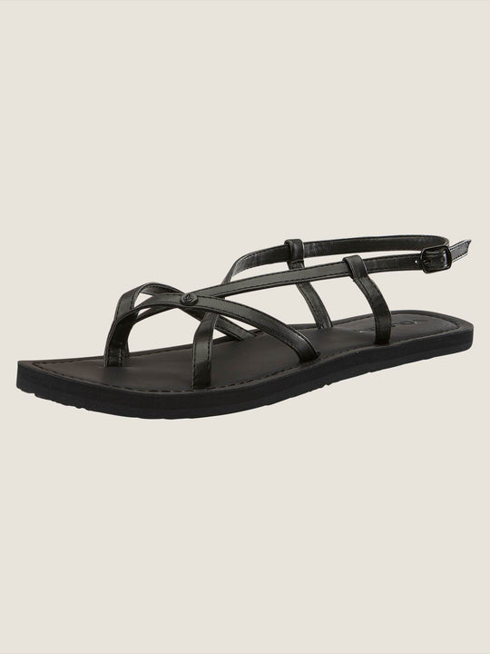 Tavira Sandals In Black, Back View