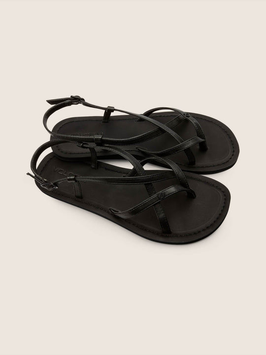 Tavira Sandals In Black, Front View