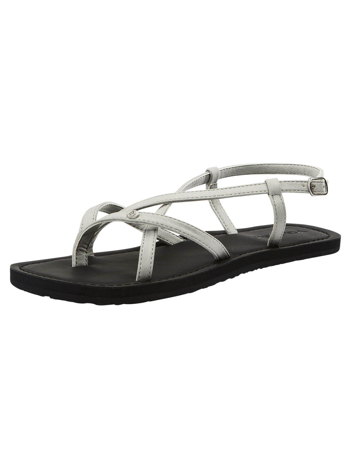 Tavira Sandals In Light Grey, Back View