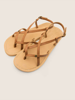 Tavira Sandals In Tan, Front View