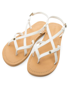 Tavira Sandals In White, Front View