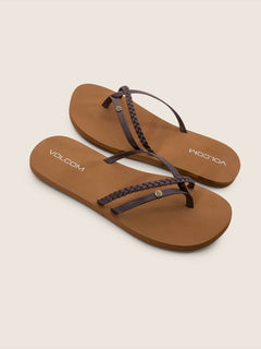 Thrills Sandals In Brown, Front View