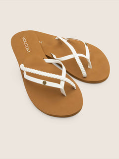 Thrills Sandals In White, Front View