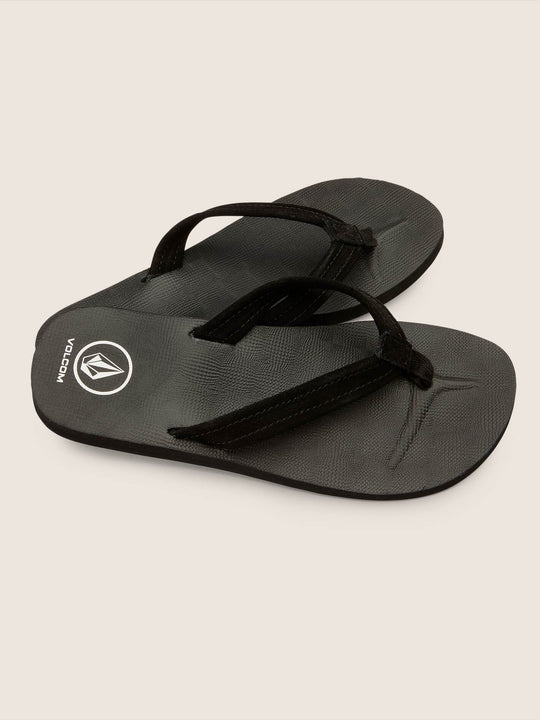 Victoria Sandals In Black, Front View