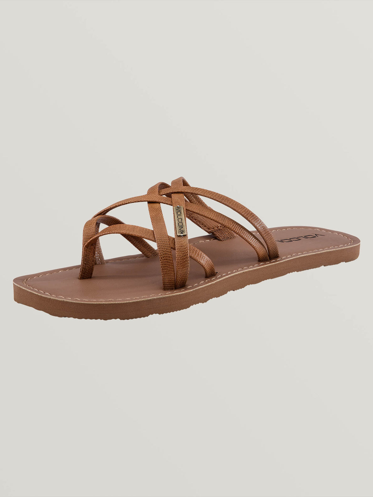 Strap Happy Sandals In Cognac, Back View