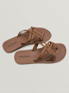 Strap Happy Sandals In Cognac, Front View