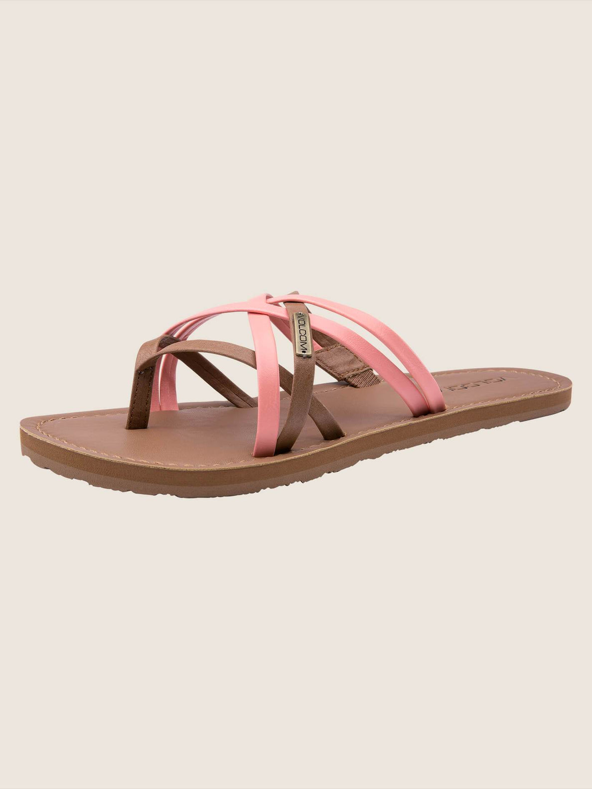 Strap Happy Sandals In Coral, Back View