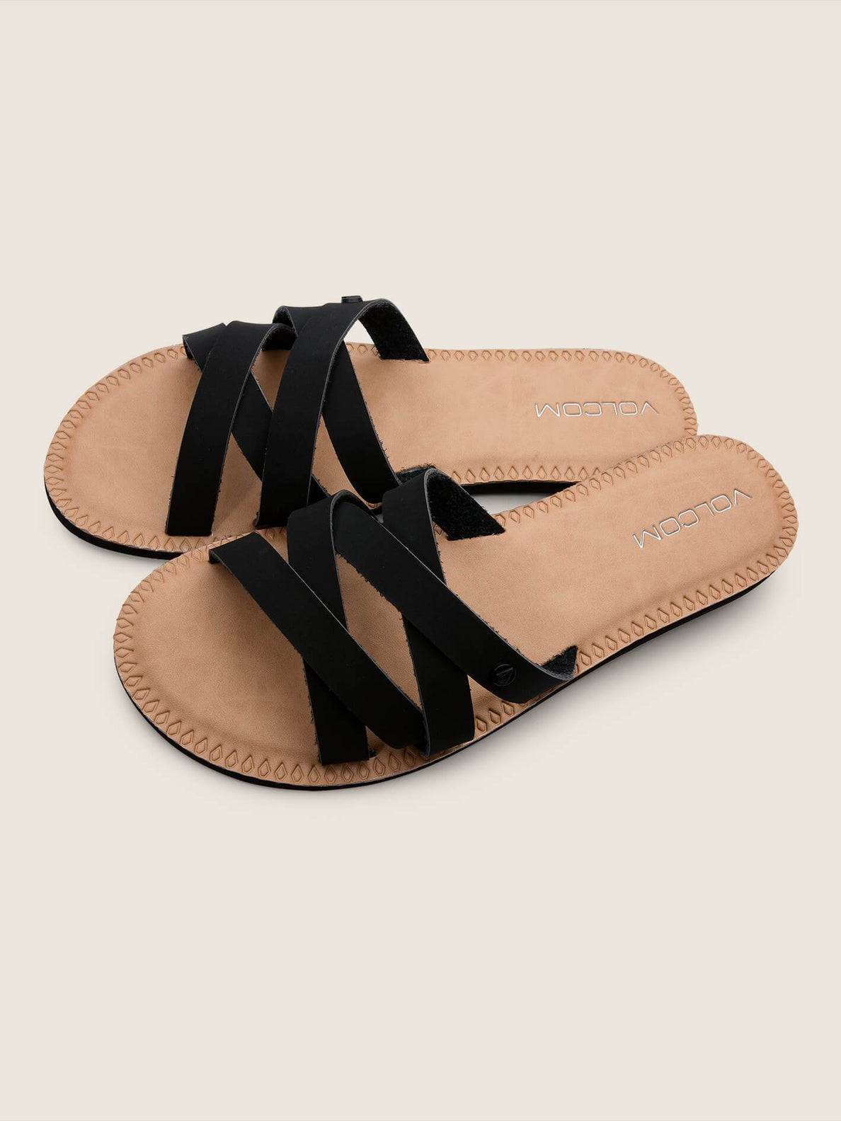 Garden Party Sandals In Black, Front View