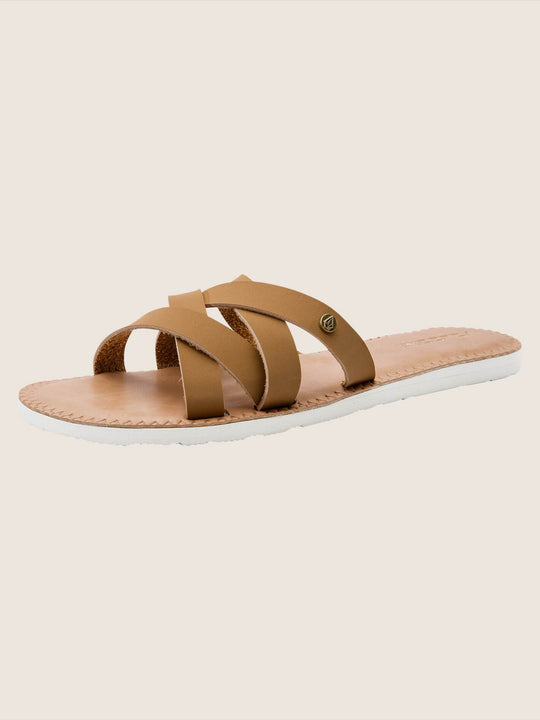 Garden Party Sandals In Tan, Back View