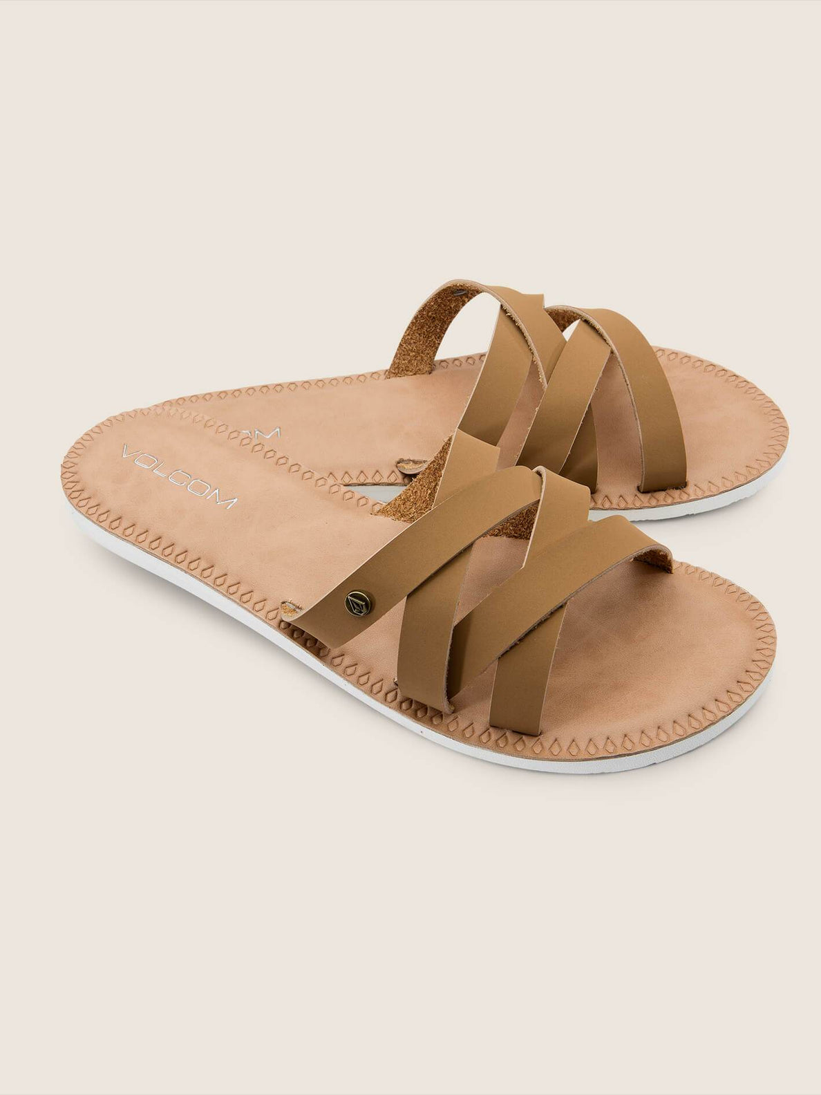 Garden Party Sandals In Tan, Front View