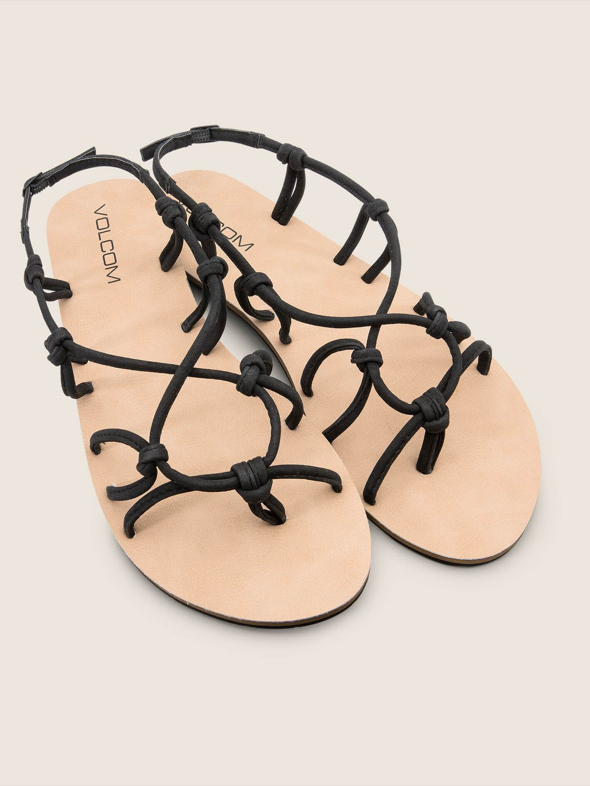Whateversclever Sandals In Black, Front View