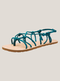 Whateversclever Sandals In Teal, Back View