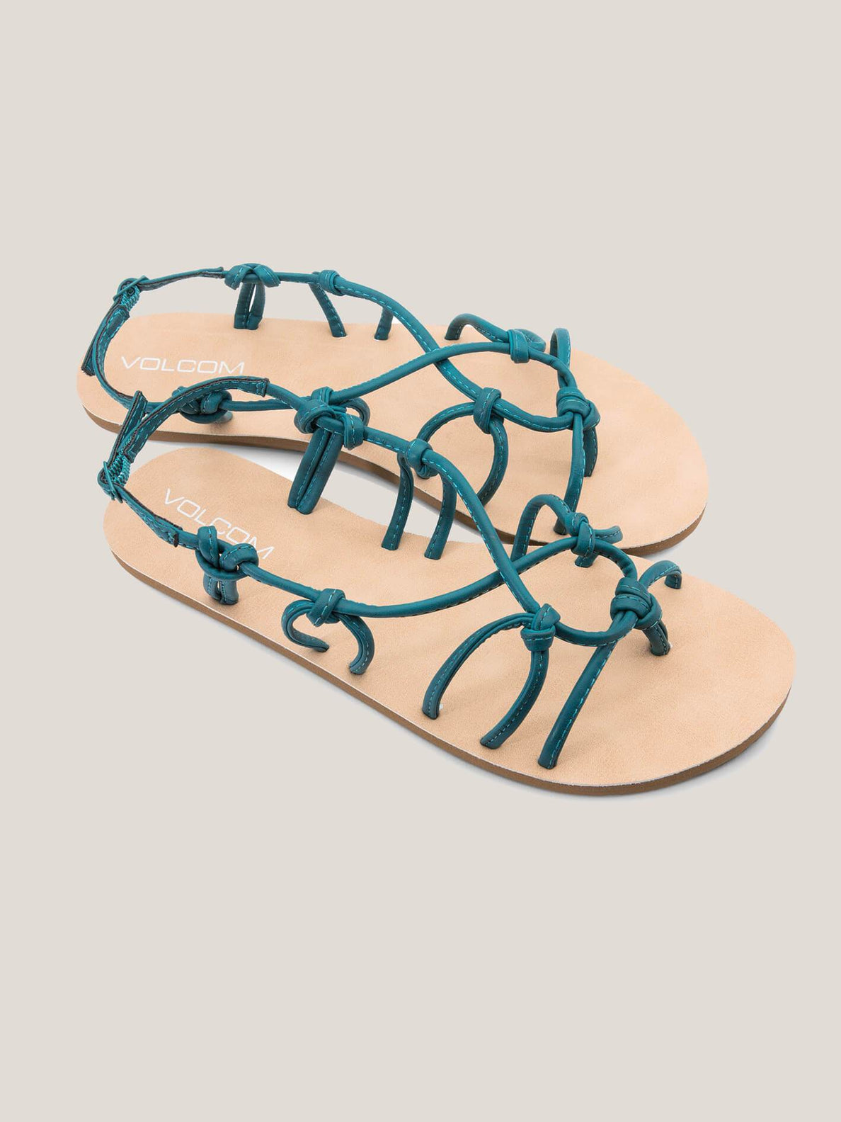 Whateversclever Sandals In Teal, Front View