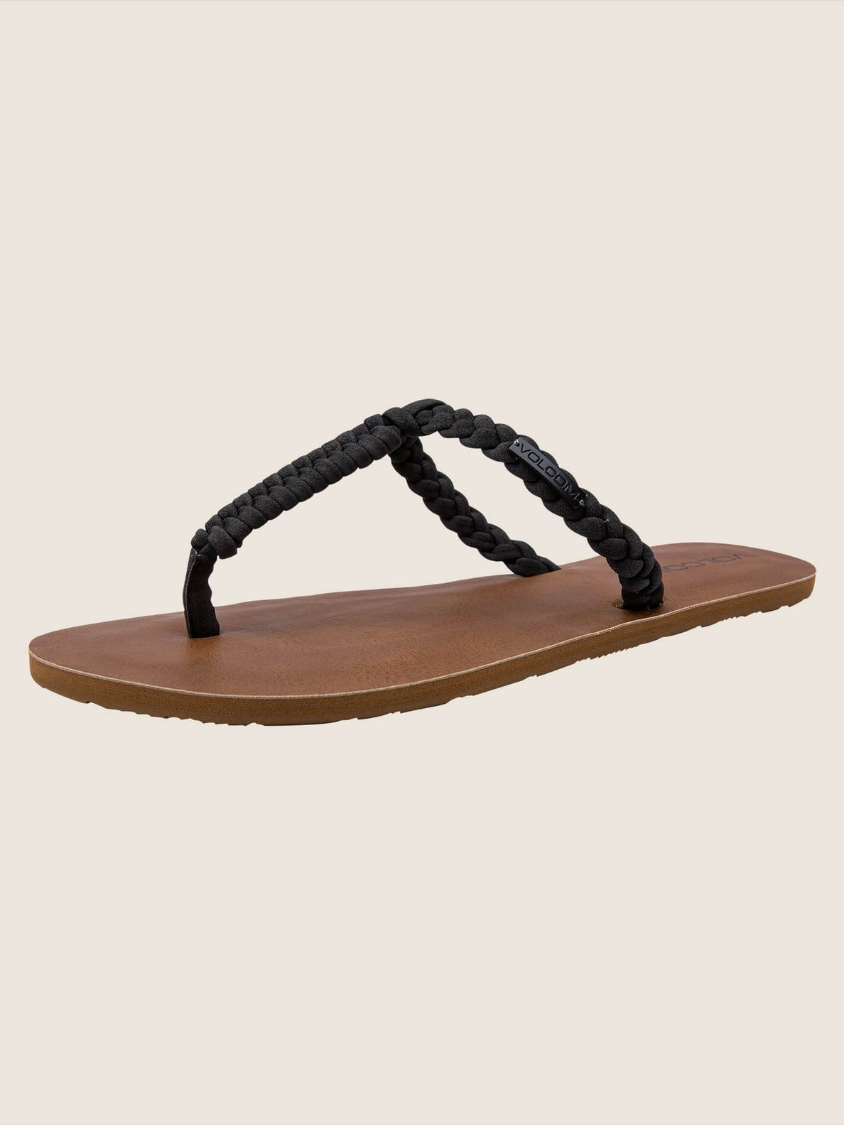 Fishtail Sandals In Black, Back View