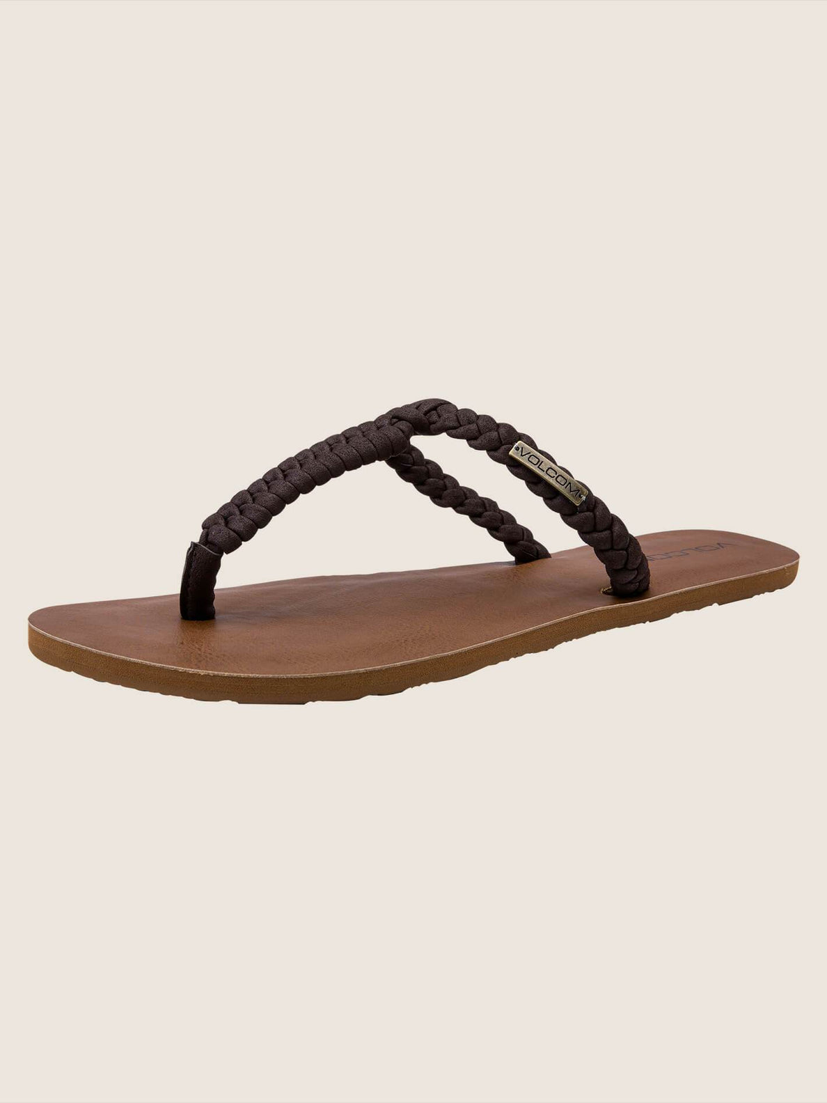 Fishtail Sandals In Brown, Back View