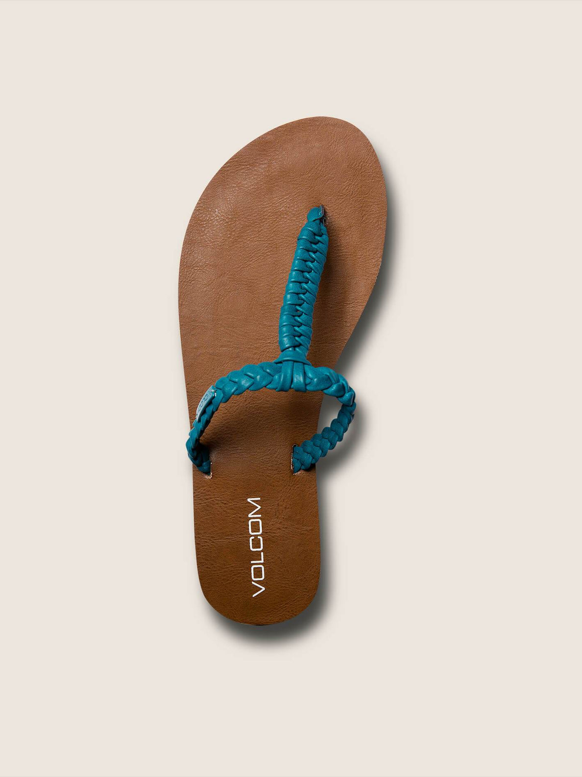 Fishtail Sandals In Teal, Alternate View