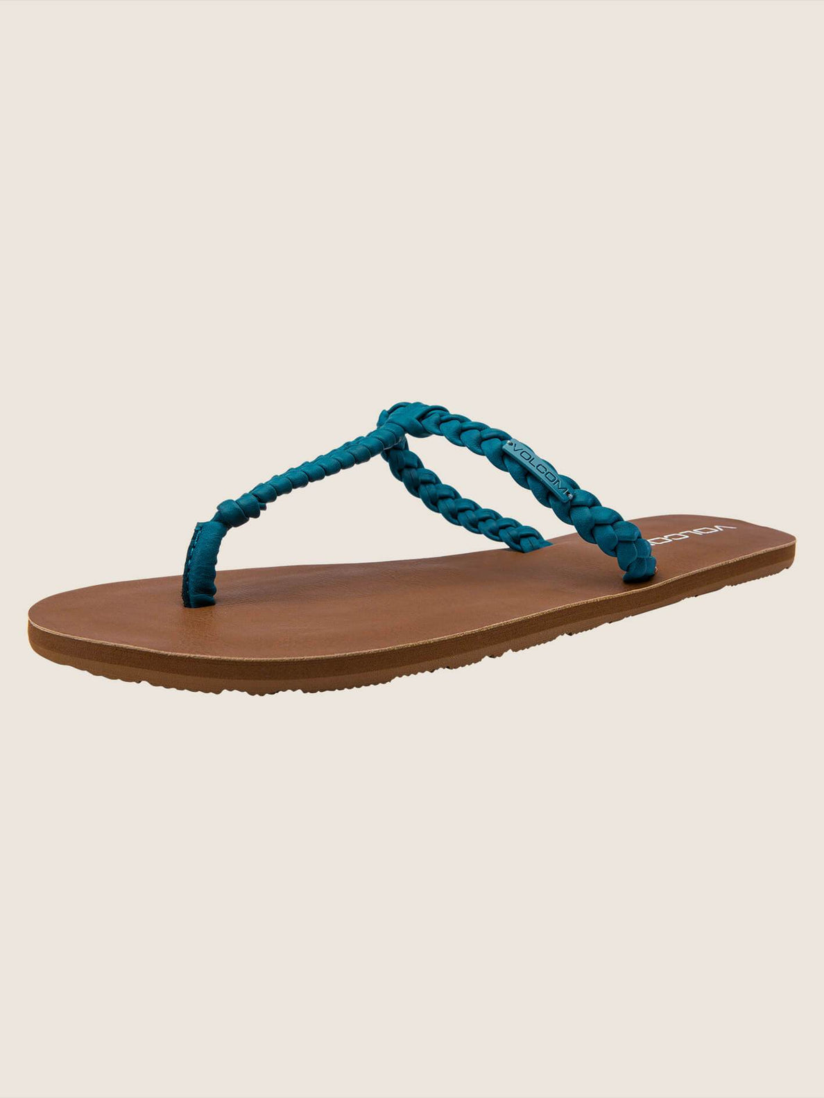 Fishtail Sandals In Teal, Back View