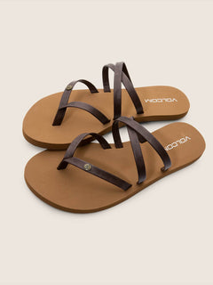 Easy Breezy Sandals In Brown, Front View