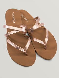 Easy Breezy Sandals In Rose Gold, Front View