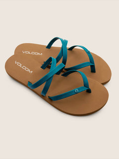 Easy Breezy Sandals In Teal, Front View