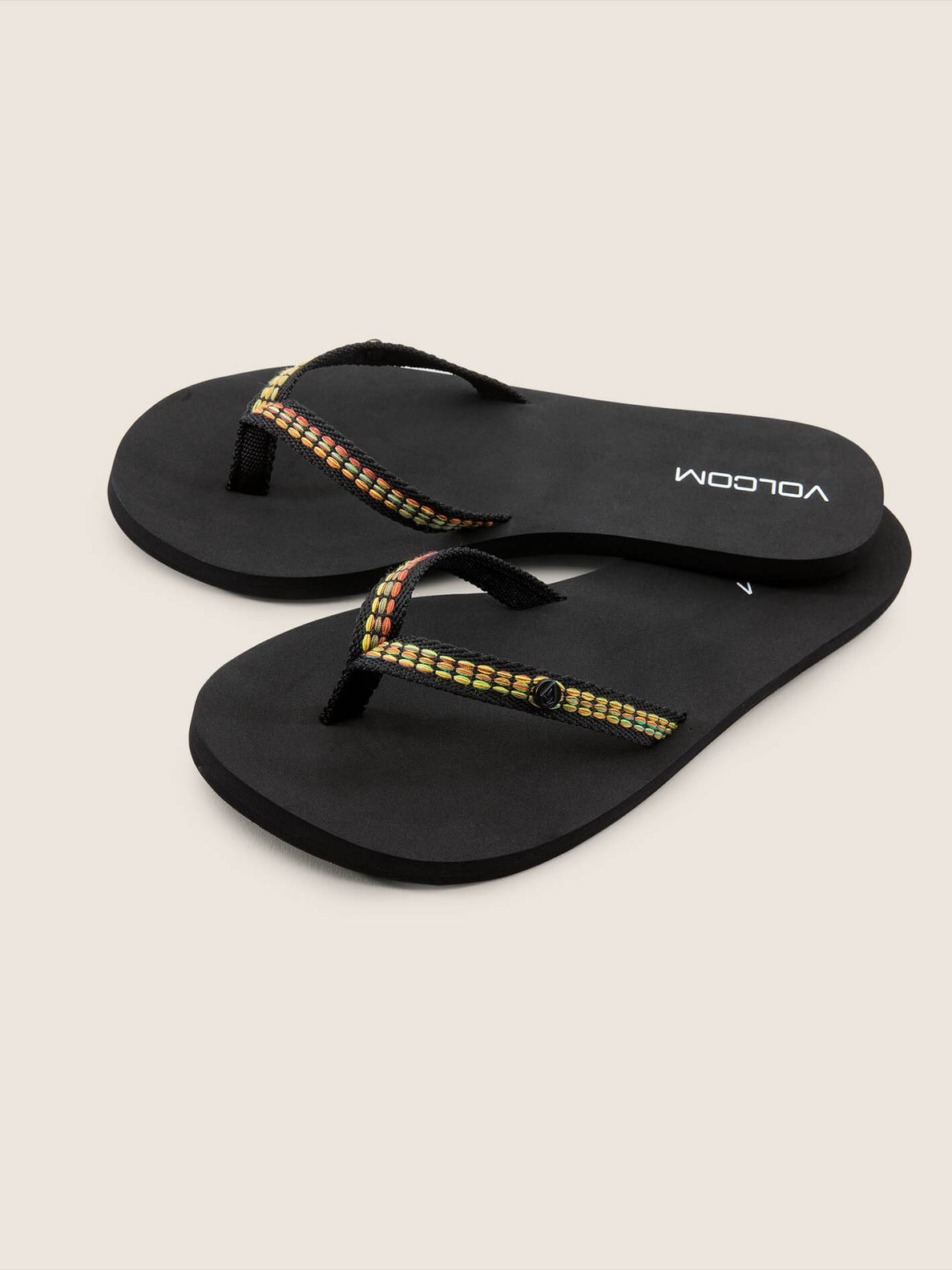 Trek Sandals In Black, Front View