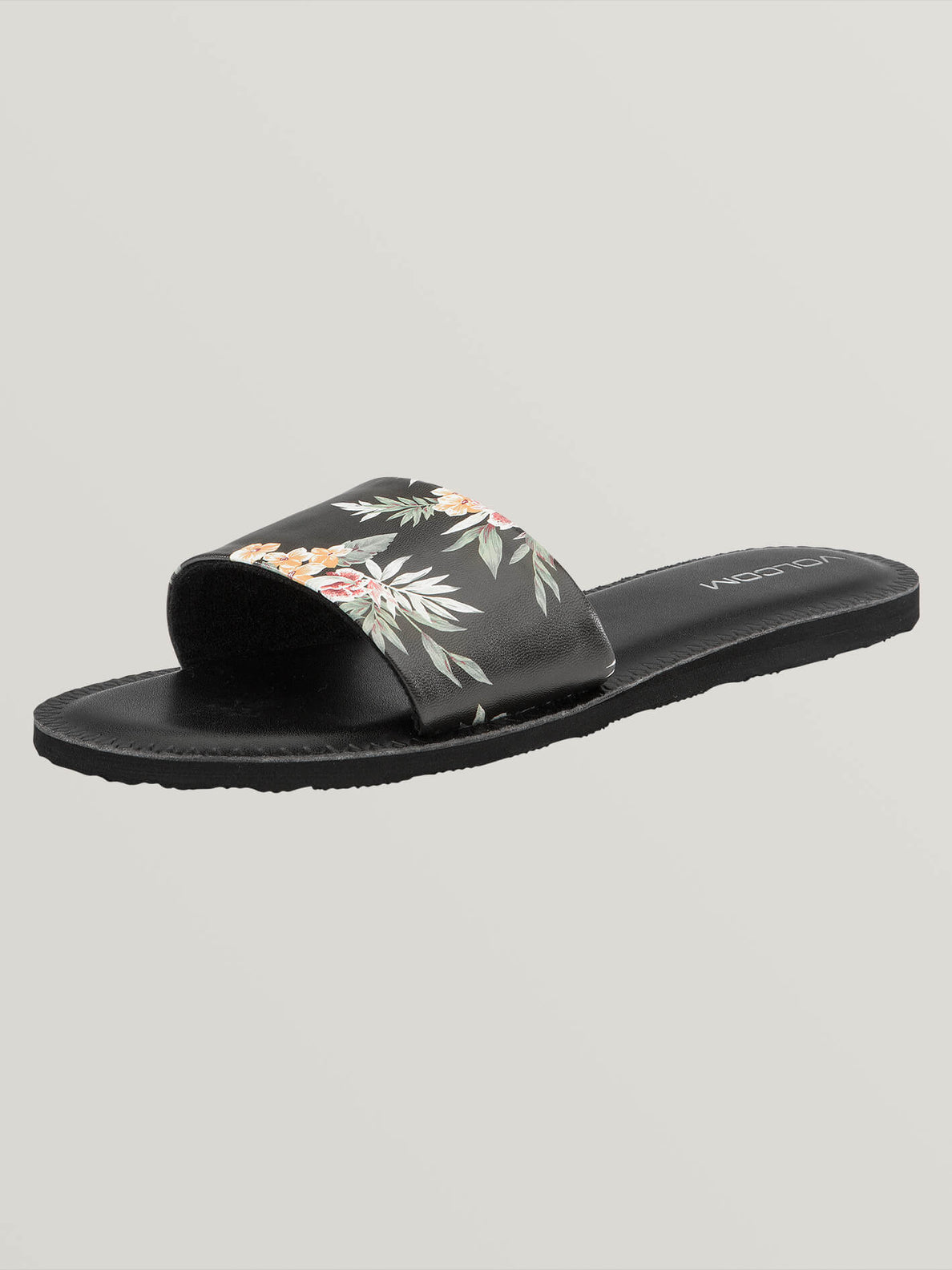 Simple Slide Sandals In Black Combo, Back View
