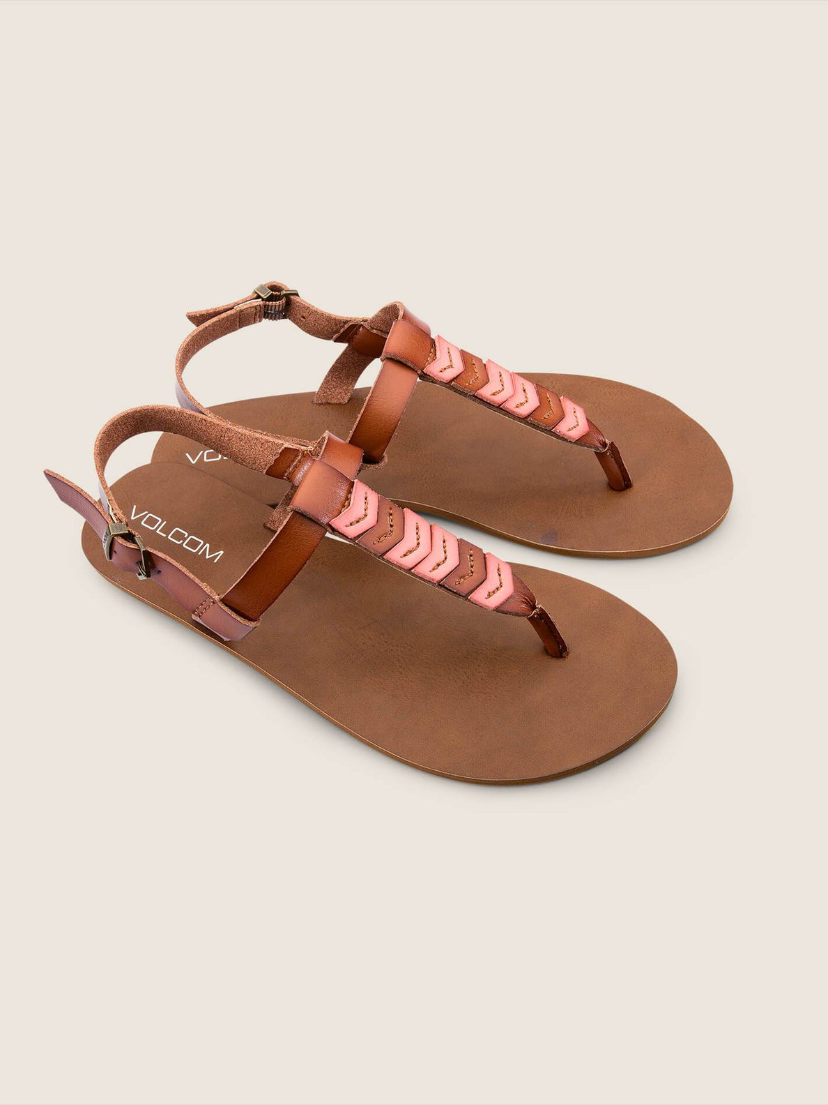Trail 6 Sandals In Coral, Front View