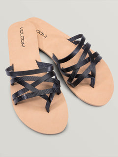 Legacy Sandals In Black Combo, Front View