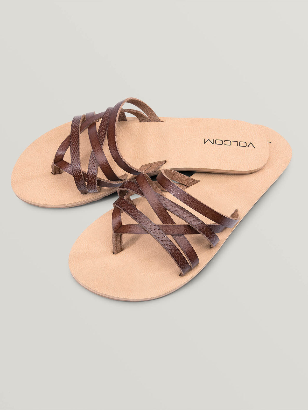 Legacy Sandals In Brown Combo, Front View