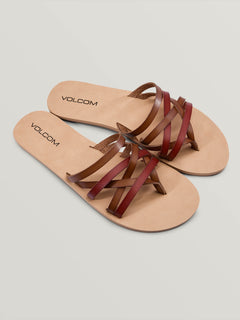 Legacy Sandals In Tan, Front View