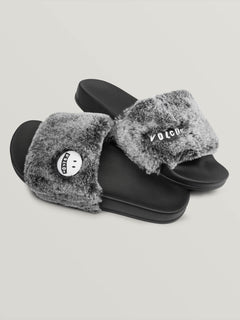 Lived In Lounge Slides In Heather Grey, Front View