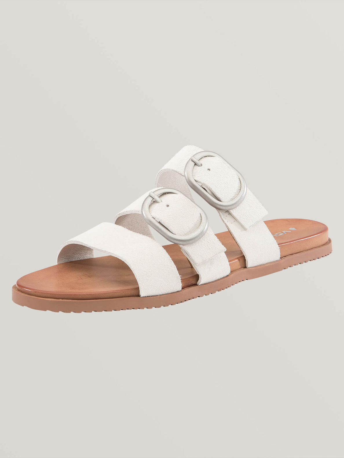 Buckle Up Buttercup Sandals In Bone, Back View