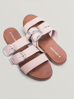 Buckle Up Buttercup Sandals In Mushroom, Front View