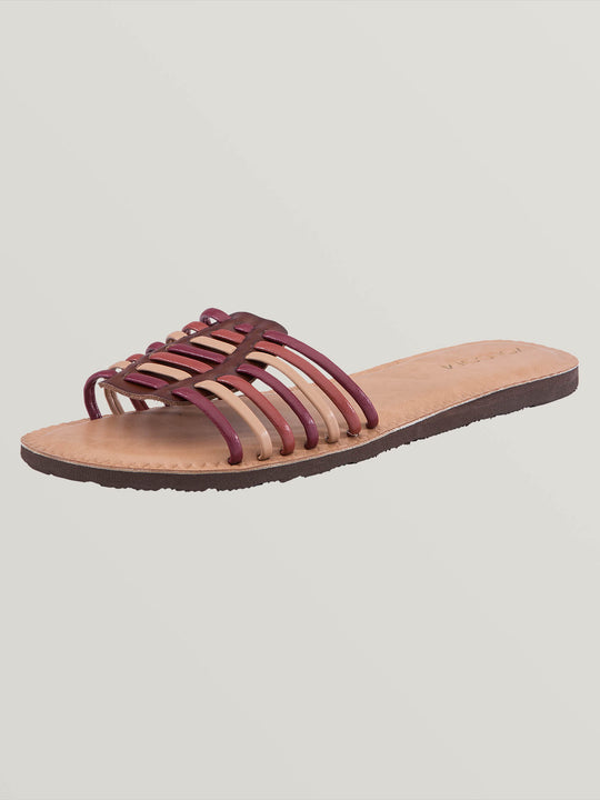 Porto Sandals In Bark Brown, Back View