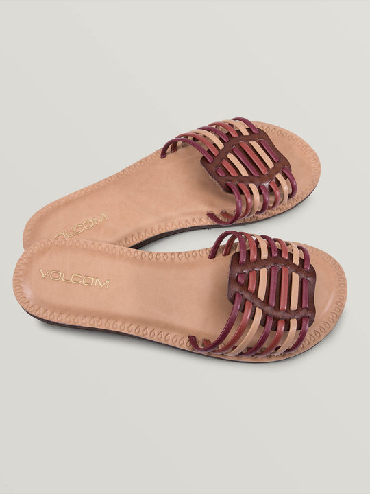 Porto Sandals In Bark Brown, Front View