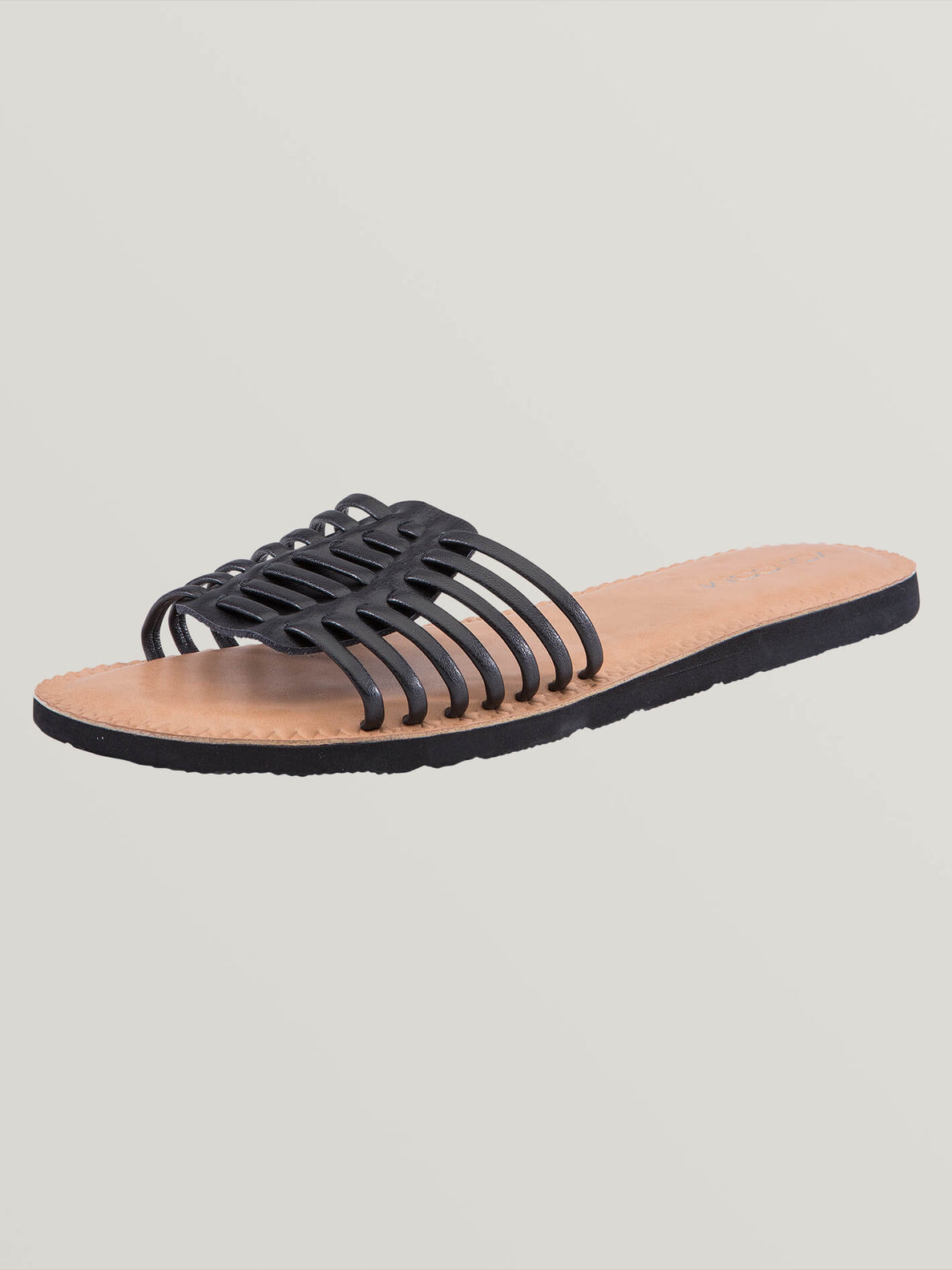 Porto Sandals In Black, Back View
