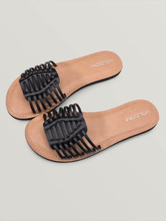 Porto Sandals In Black, Front View